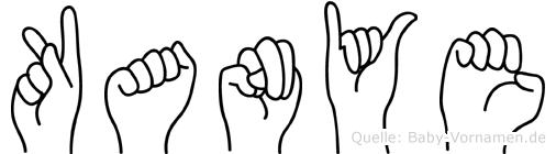 Kanye im Fingeralphabet der Deutschen Gebärdensprache