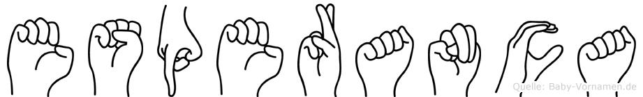 Esperanca im Fingeralphabet der Deutschen Gebärdensprache