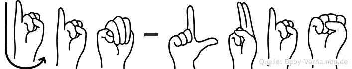 Jim-Luis im Fingeralphabet der Deutschen Gebärdensprache