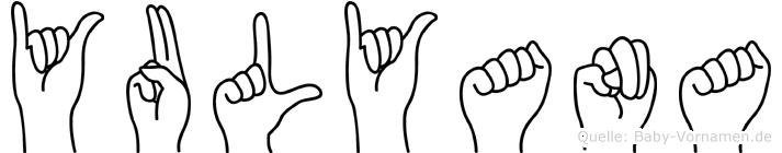 Yulyana im Fingeralphabet der Deutschen Gebärdensprache