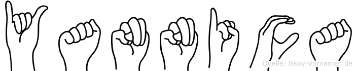 Yannica in Fingersprache für Gehörlose