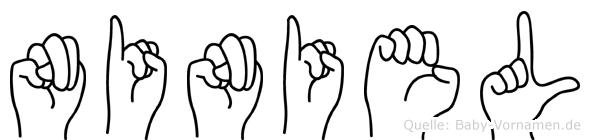 Niniel im Fingeralphabet der Deutschen Gebärdensprache