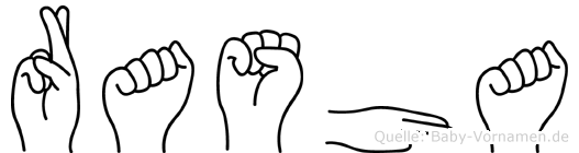 Rasha im Fingeralphabet der Deutschen Gebärdensprache
