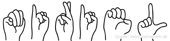 Miriel im Fingeralphabet der Deutschen Gebärdensprache