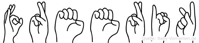 Freerik in Fingersprache für Gehörlose