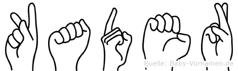Kader im Fingeralphabet der Deutschen Gebärdensprache