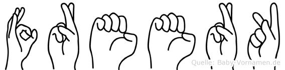 Freerk in Fingersprache für Gehörlose