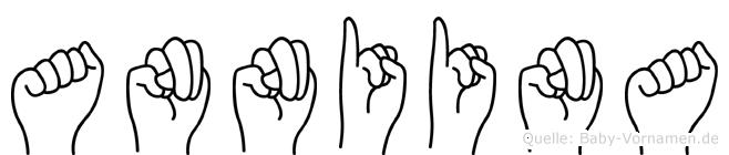 Anniina im Fingeralphabet der Deutschen Gebärdensprache