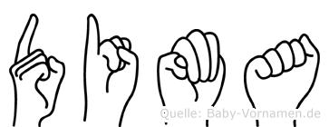 Dima im Fingeralphabet der Deutschen Gebärdensprache