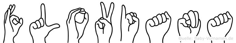 Floviana im Fingeralphabet der Deutschen Gebärdensprache