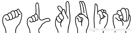 Alkuin in Fingersprache für Gehörlose