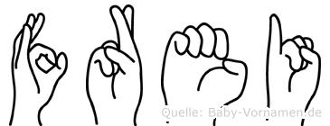 Frei in Fingersprache für Gehörlose