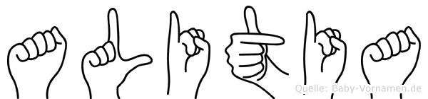 Alitia in Fingersprache für Gehörlose