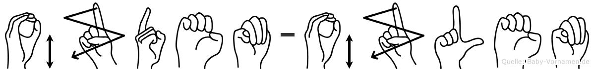 Özdem-Özlem im Fingeralphabet der Deutschen Gebärdensprache