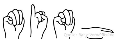 Minh in Fingersprache für Gehörlose