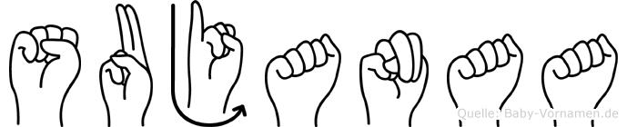 Sujanaa in Fingersprache für Gehörlose