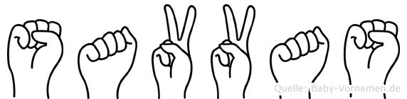 Savvas in Fingersprache für Gehörlose