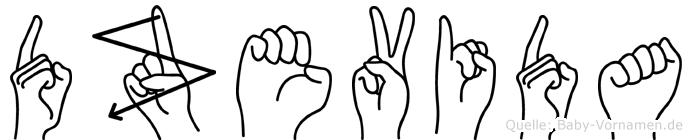 Dzevida in Fingersprache für Gehörlose