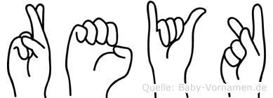 Reyk in Fingersprache für Gehörlose