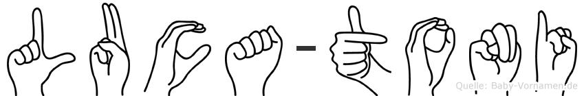 Luca-Toni im Fingeralphabet der Deutschen Gebärdensprache