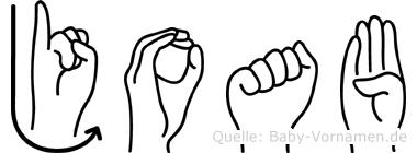 Joab im Fingeralphabet der Deutschen Gebärdensprache