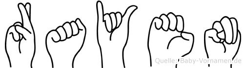 Rayen in Fingersprache für Gehörlose