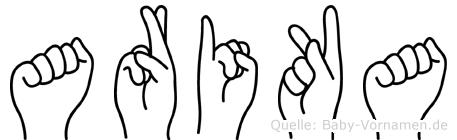 Arika in Fingersprache für Gehörlose