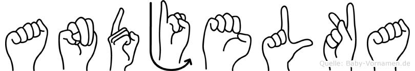 Andjelka im Fingeralphabet der Deutschen Gebärdensprache