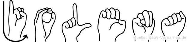 Jolena in Fingersprache für Gehörlose