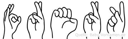 Frerk in Fingersprache für Gehörlose