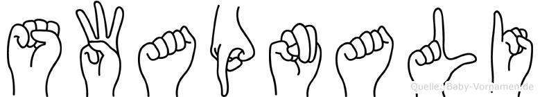 Swapnali in Fingersprache für Gehörlose