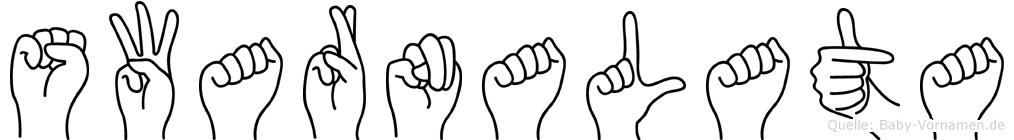 Swarnalata in Fingersprache für Gehörlose