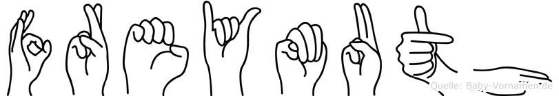 Freymuth im Fingeralphabet der Deutschen Gebärdensprache