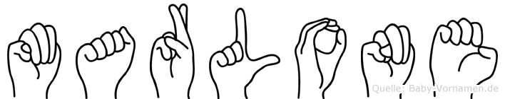 Marlone im Fingeralphabet der Deutschen Gebärdensprache