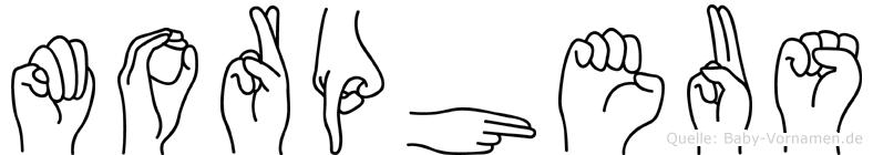 Morpheus in Fingersprache für Gehörlose