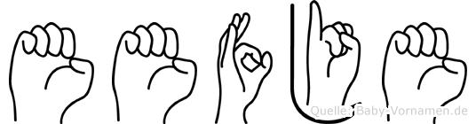Eefje in Fingersprache für Gehörlose