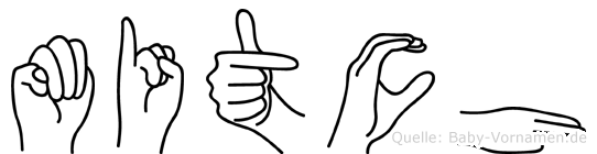 Mitch im Fingeralphabet der Deutschen Gebärdensprache