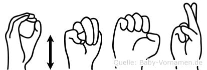 Öner im Fingeralphabet der Deutschen Gebärdensprache