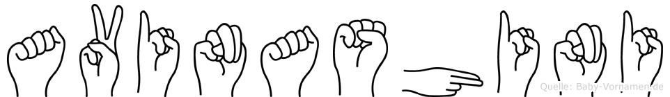 Avinashini im Fingeralphabet der Deutschen Gebärdensprache