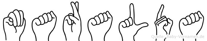 Maralda in Fingersprache für Gehörlose