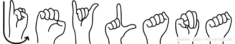 Jeylana im Fingeralphabet der Deutschen Gebärdensprache