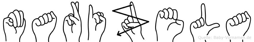 Marizela im Fingeralphabet der Deutschen Gebärdensprache