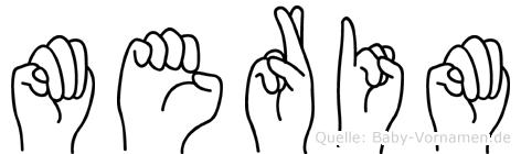 Merim im Fingeralphabet der Deutschen Gebärdensprache