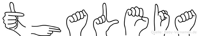 Thaleia im Fingeralphabet der Deutschen Gebärdensprache