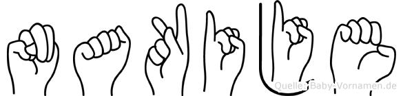 Nakije in Fingersprache für Gehörlose