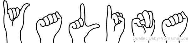 Yalina in Fingersprache für Gehörlose
