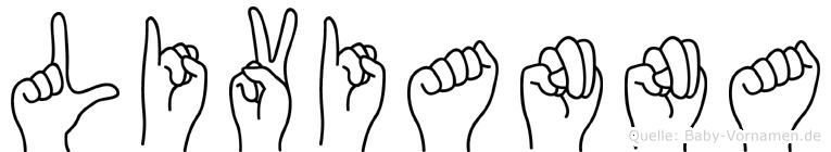 Livianna im Fingeralphabet der Deutschen Gebärdensprache