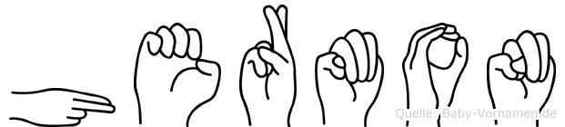 Hermon in Fingersprache für Gehörlose