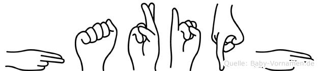 Hariph im Fingeralphabet der Deutschen Gebärdensprache