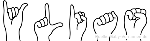 Ylias in Fingersprache für Gehörlose